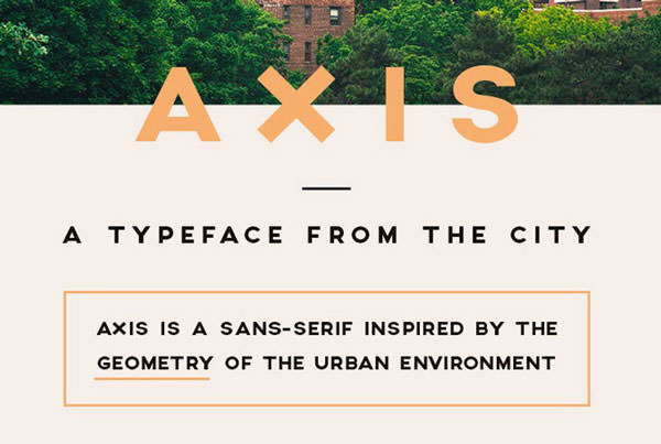 axis-font
