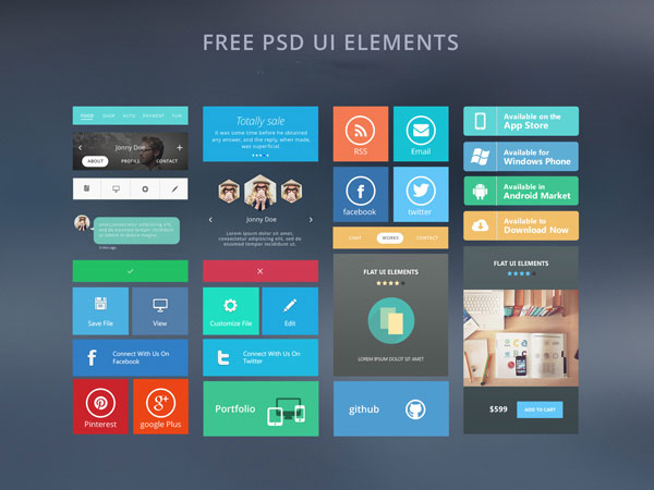 Free_PSD_UI_elements