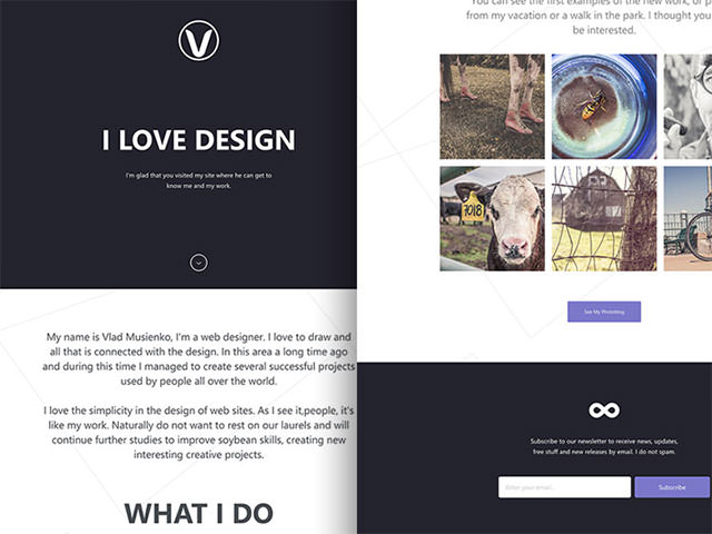 Lithium-free-onepage-template