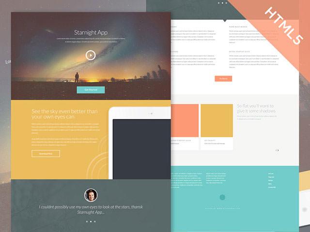starnight-html-template
