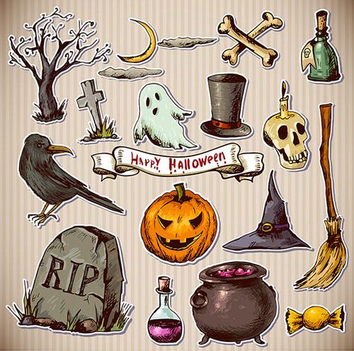 happy-halloween-drawn