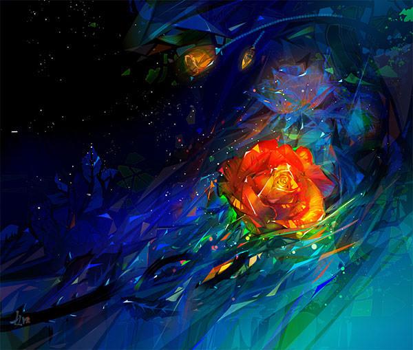 space-rose