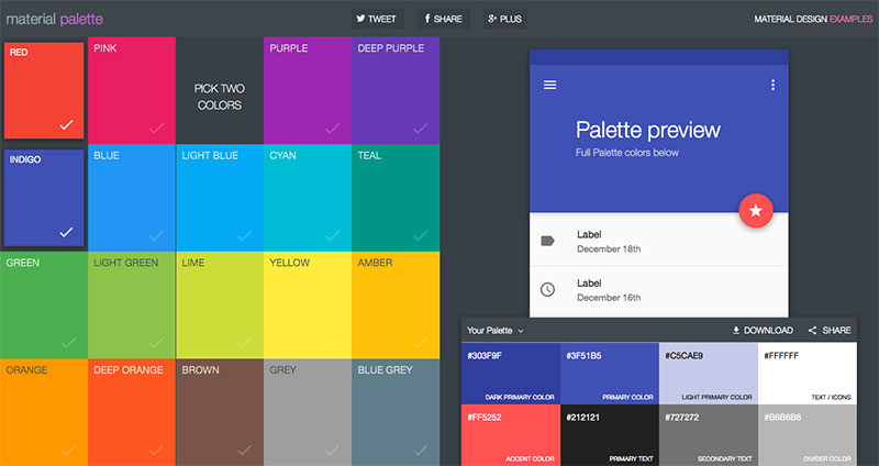 material design colors xml