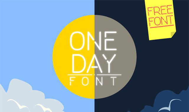 One-Day-Free-Font