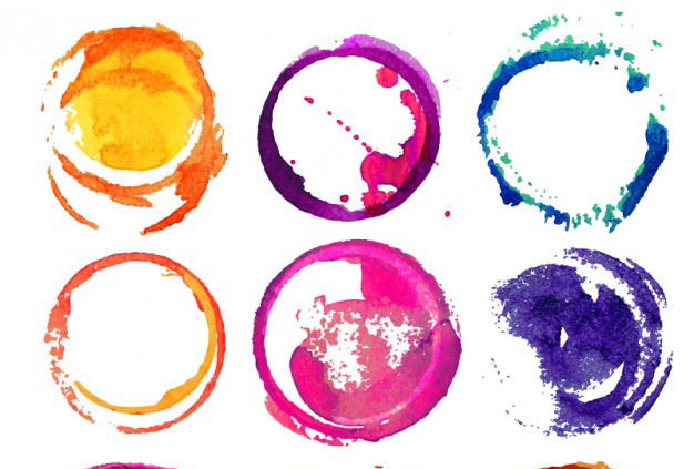 round-watercolor-stains