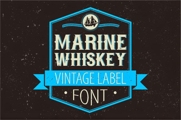 Marine-Whiskey-label