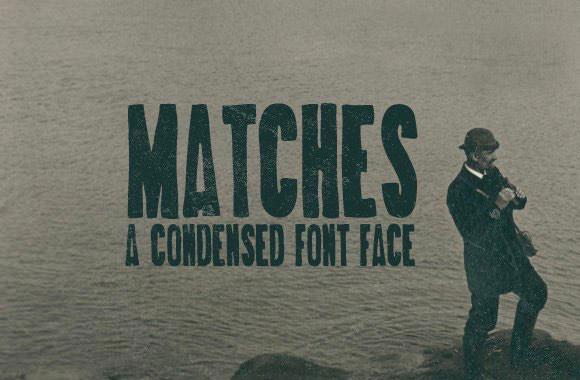 matches-handdrawn-font