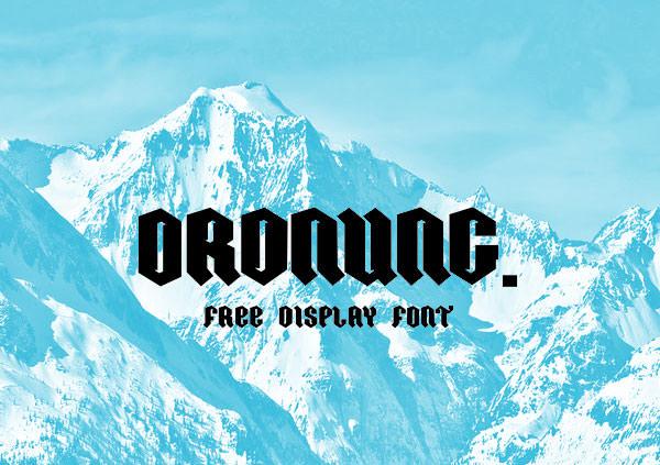 ordnung-free-font