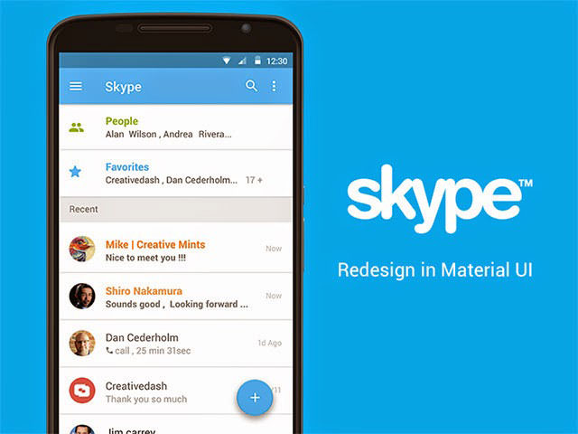 Skype-app-concept-with-Material-UI
