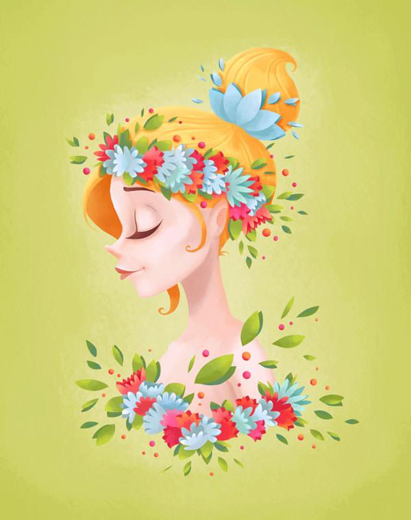 spring-lady-illustration