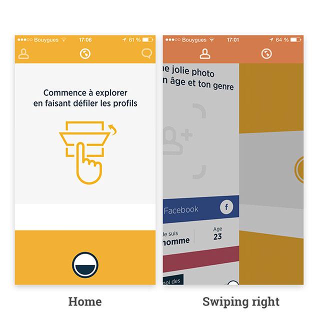 スワイプ型ナビメニューは、メインページの少ないアプリなどにオススメ。
