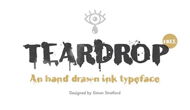 teardrop-typeface