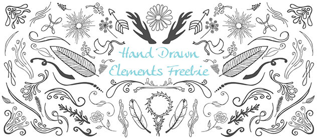 Hand-Drawn-Elements-Freebie
