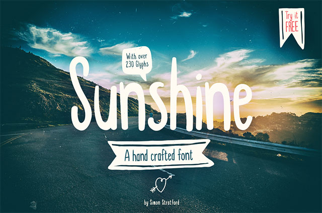 sunshine-font