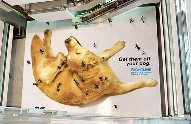 creative-floor-sticker-ad-giant-dog-people-look-like-fleas-ticks-from-above