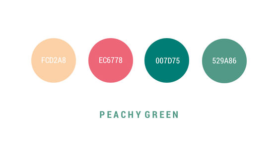 peachy-green