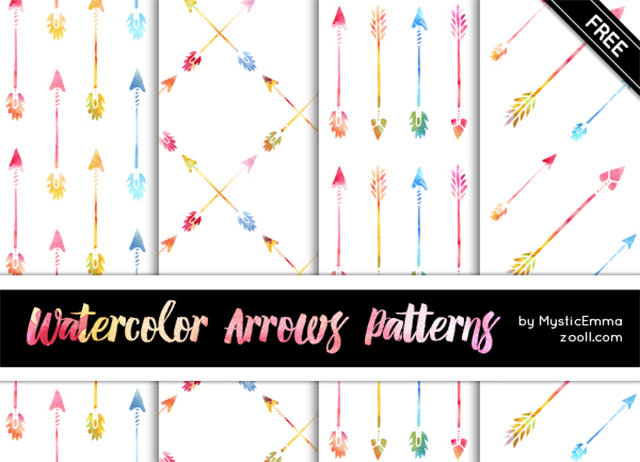 Watercolor-Arrows-Patterns-Preview