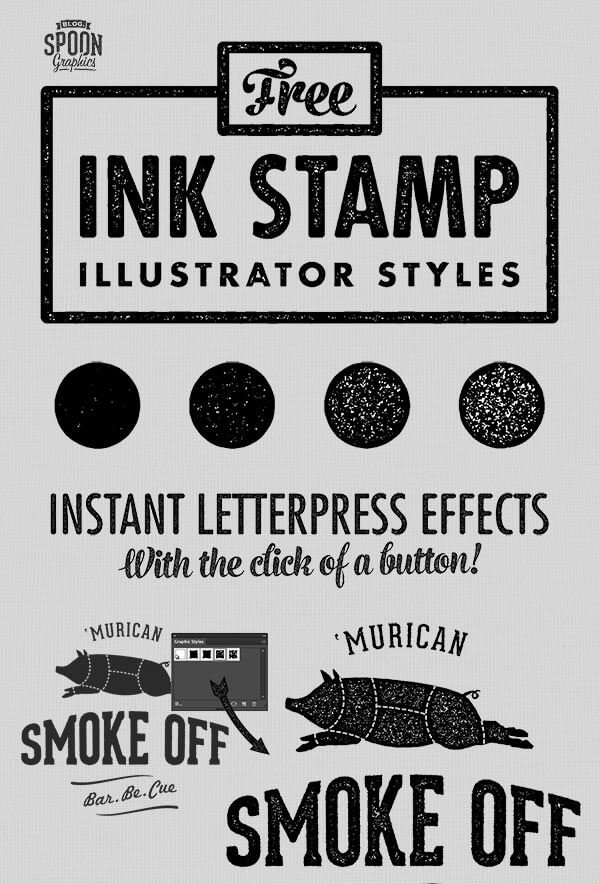 Free Ink Stamp Effect Styles for Adobe ...