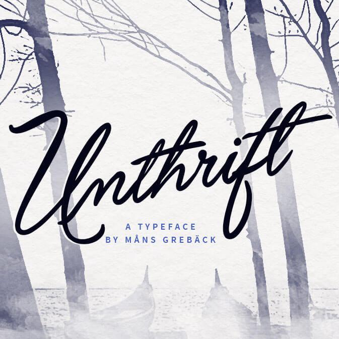 unthrift-typeface
