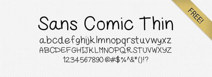 Sans-Comic-Thin