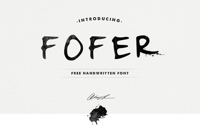fofer-handwritten-font