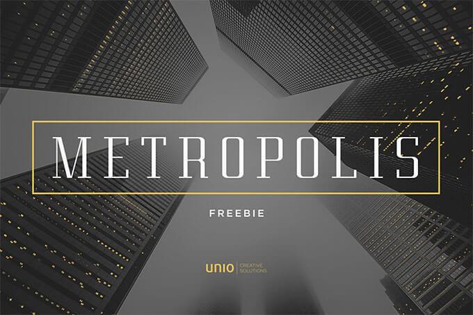 00_metropolis-free-font