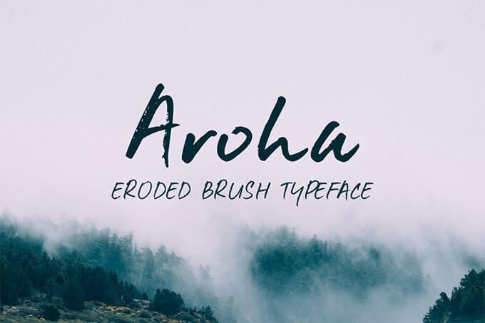 01_aroha-brush-free-font