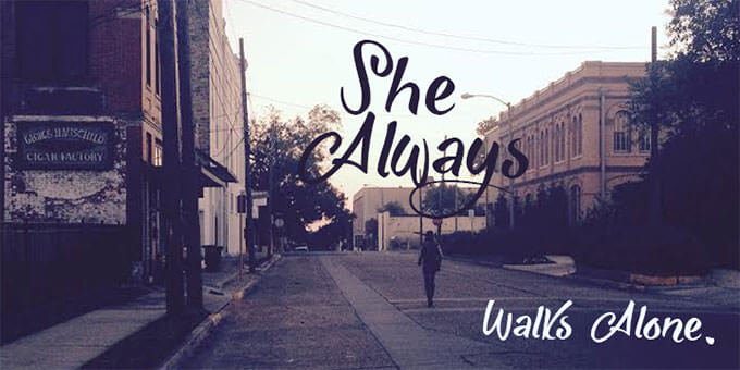 she_always_walks_alone