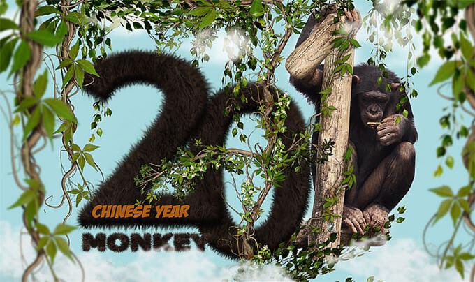 chinese-monkey-year-text-photoshop-tutorial