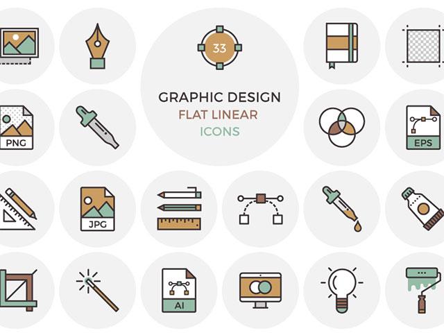 25graphic-design-flat-linear-icon