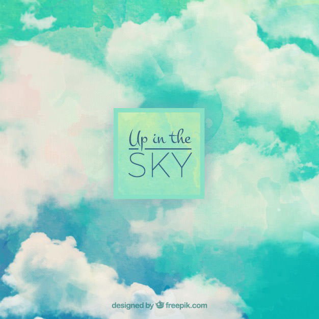 watercolor-up-in-the-sky-cloud