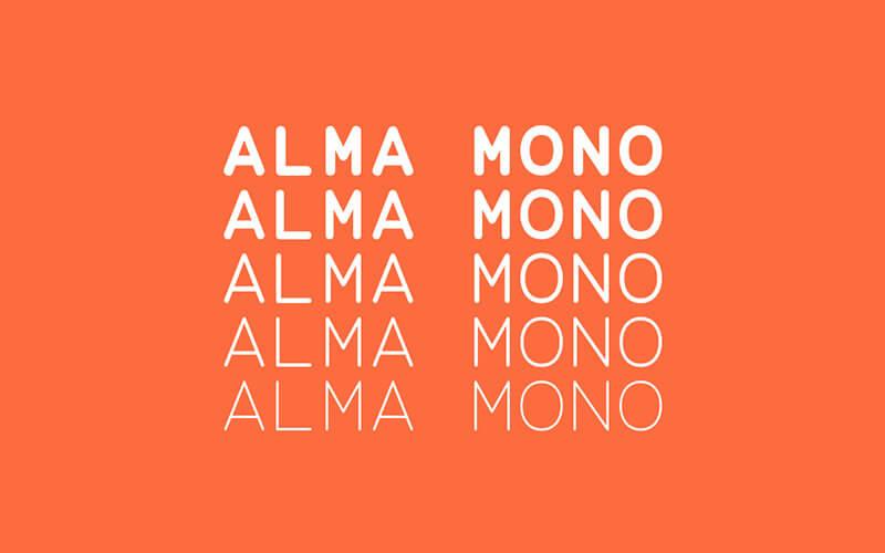 alma-mono-free-font