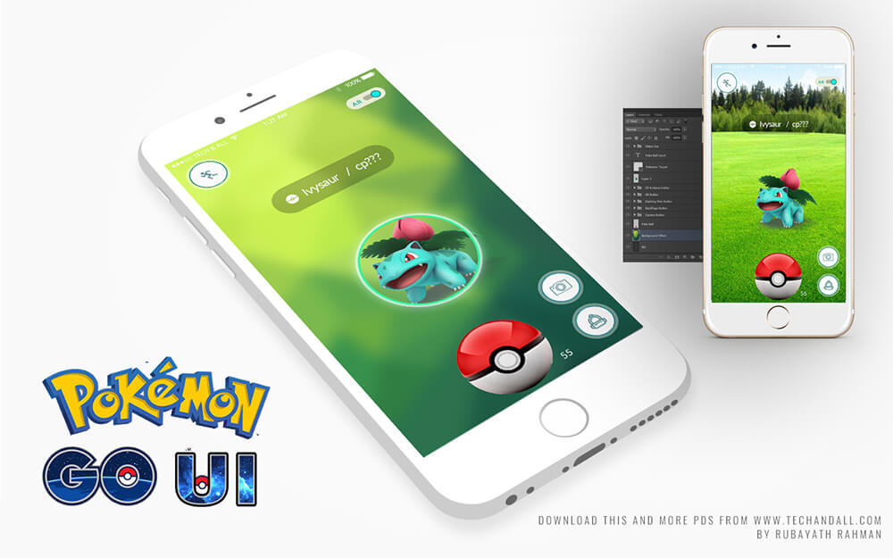 pokemon-go-UI-kit-v2