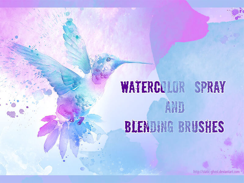 Watercolor-spray-brushes
