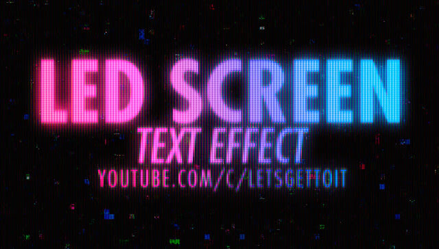 led-screen-text-effect