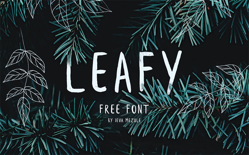 leafy-free-font