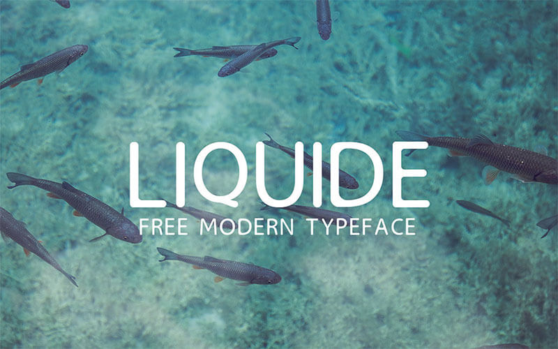 liquide-free-modern-typeface