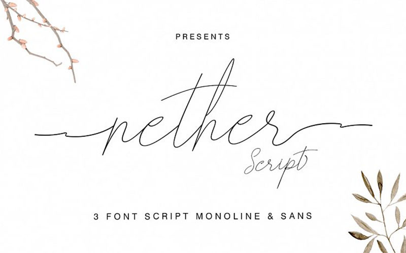 nether-handwritten-font