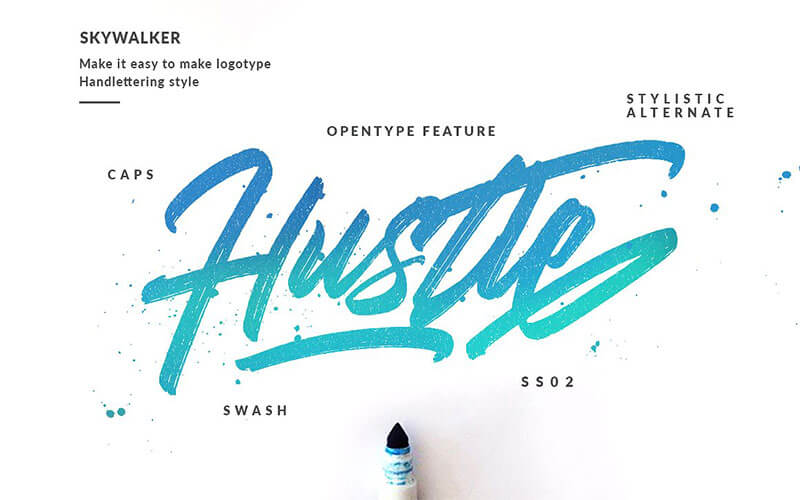 skywalker-brush-font