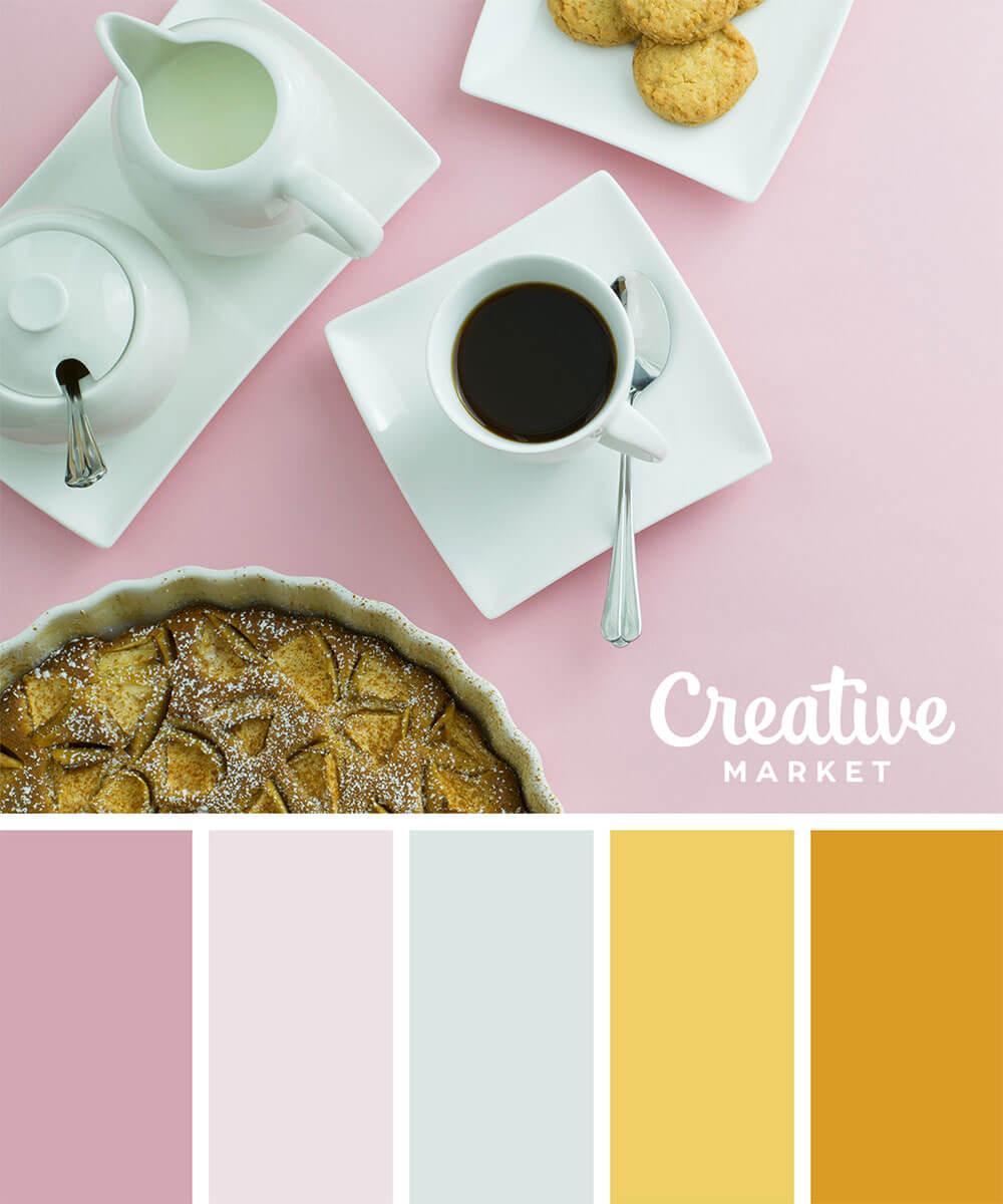 夏天设计配色方案的参考,15种柔和色调!-(zhile.tv知了)一个呆萌的设计网站!