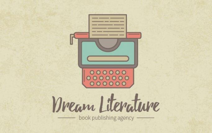 thin-line-retro-typewriter-logotype-in-illustrator