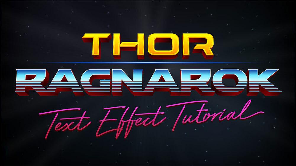 thor-ragnarok-style-text-effect