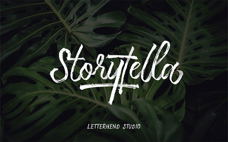 storytella-brush-font