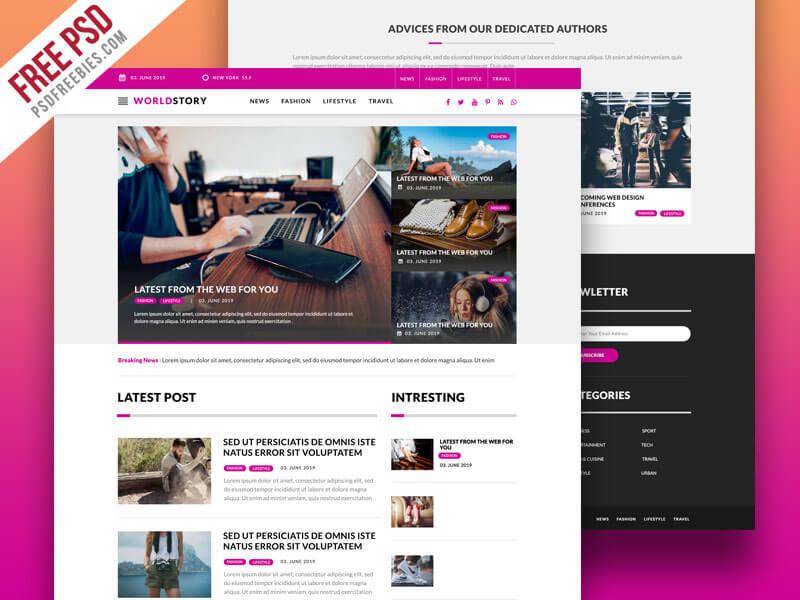 photoshopで編集ラクラク webサイト用の美しい無料psdテンプレート45個