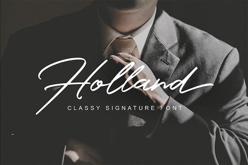 hollandscript-font