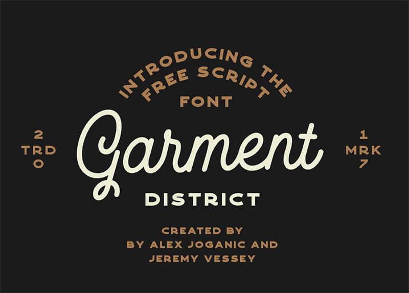 garmentdistrict-freemonolinescript