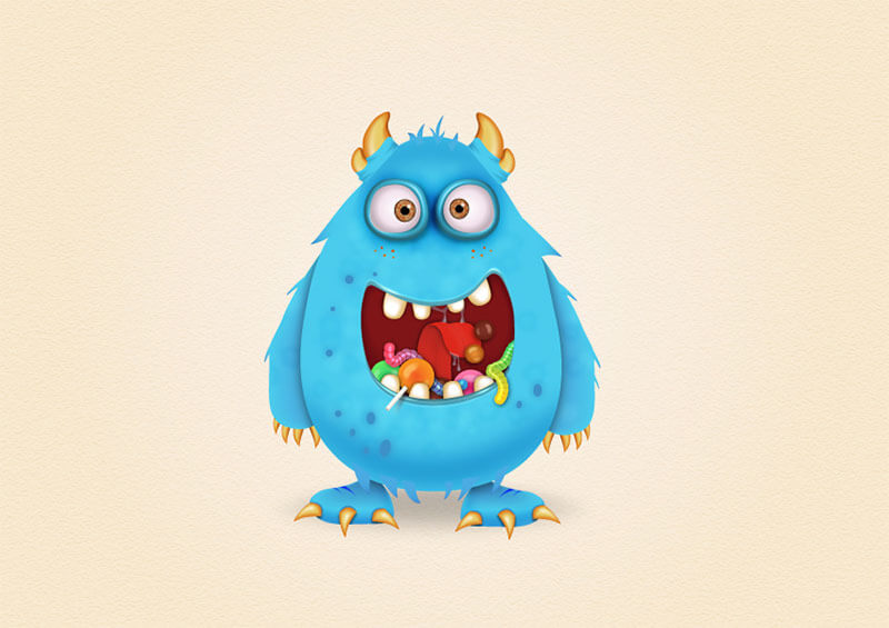 candy-monster-character