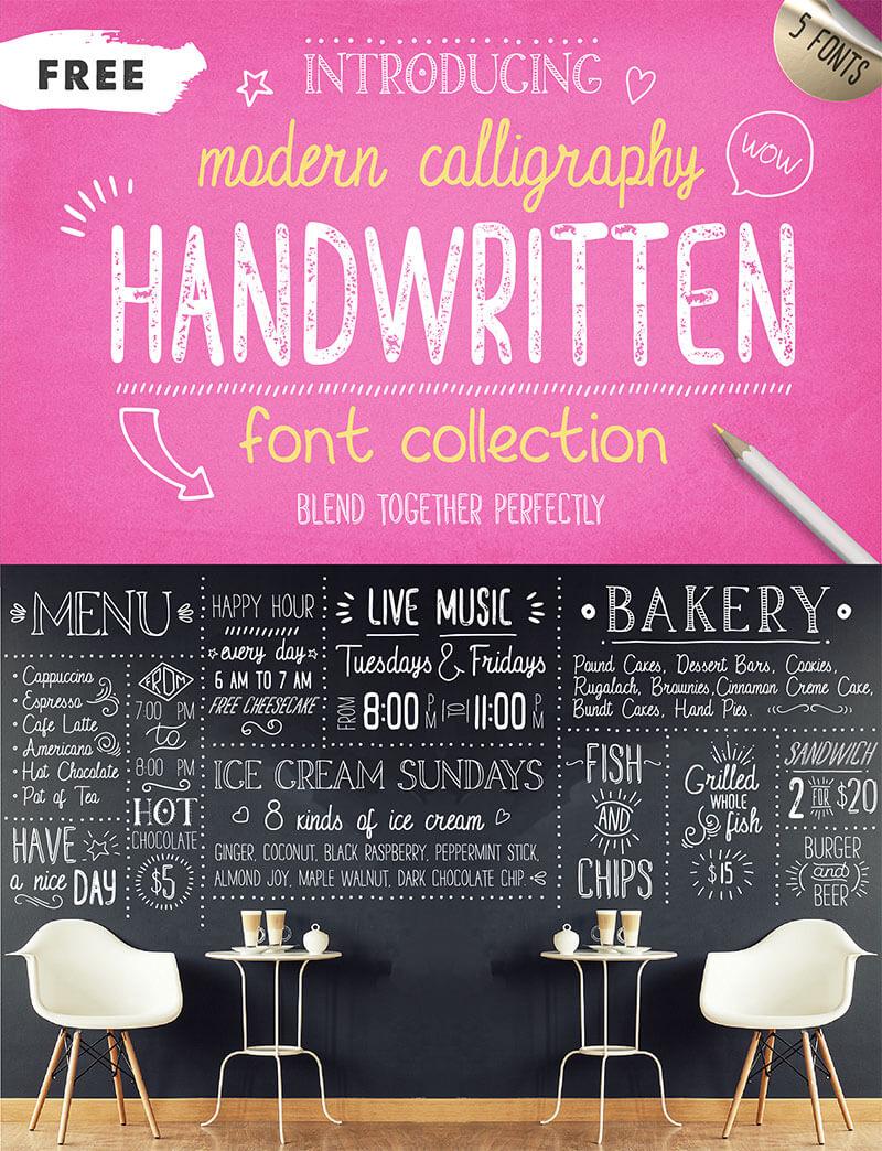 handwritten-font-collection