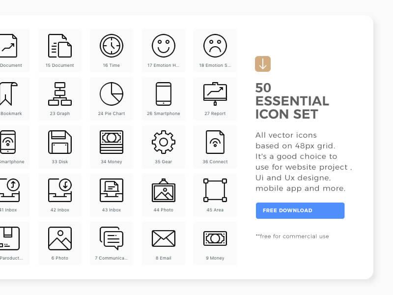 50-free-essential-icon-set