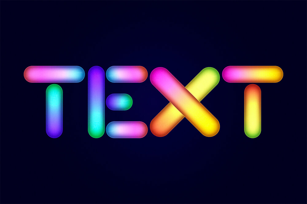 glowing-text-adobe-illutrator